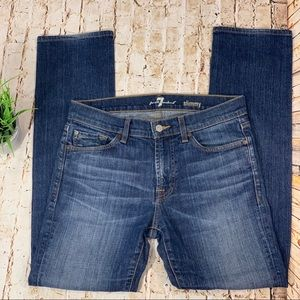 7 For All Mankind Slimmy Blue Jeans